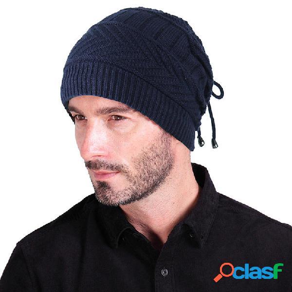 Gorro tejido de felpa de invierno multiusos Sombrero Bufanda