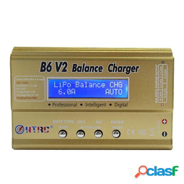 HTRC B6 V2 80W 6A Digital RC Cargador de la Batería