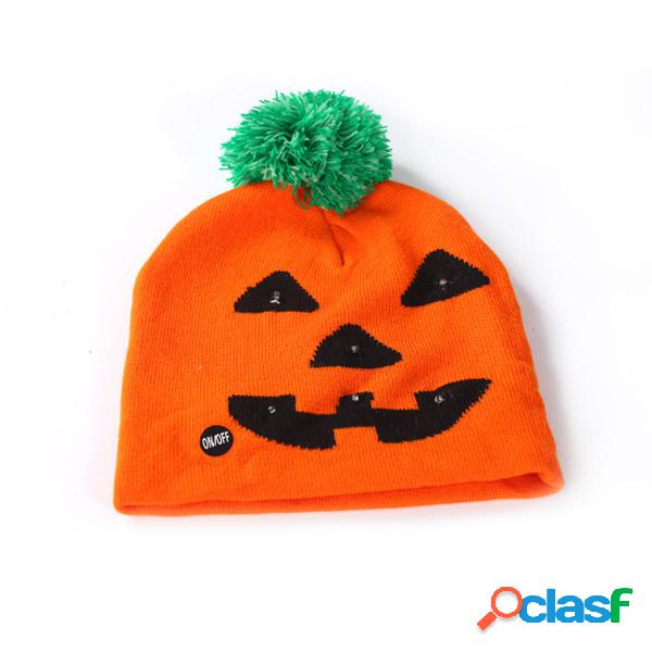 Halloween LED Sombrero Gorro de punto Beanie Light Up Xmas