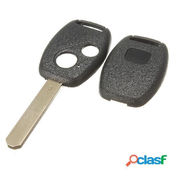 Hoja de 2 botones sin cortar Control remoto clave Caso para
