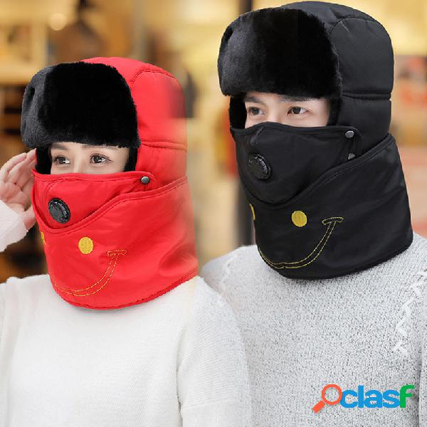 Hombres Mujer Invierno bordado desmontable respirable
