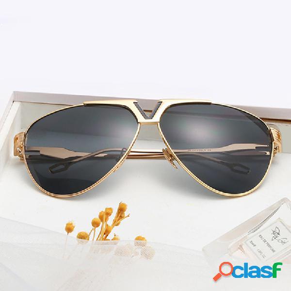 Hombres Mujer Trendy HD UV400 Gafas de sol no polarizadas de