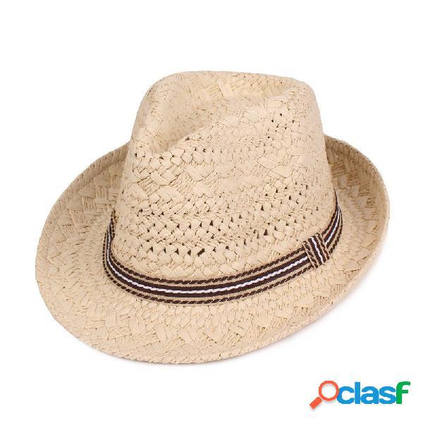 Hombres Mujer al aire libre Sombreros de paja Sombrero de