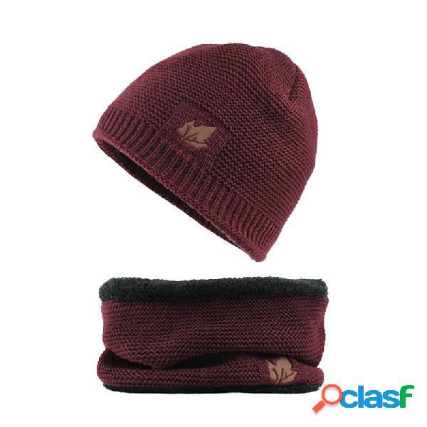Hombres de invierno espesar Plus Velvet Knit Sombrero