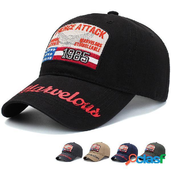 Hombres para mujer verano vendimia gorra de béisbol bordada