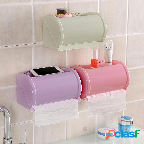 Honana Plástico Impermeable Soporte de papel higiénico
