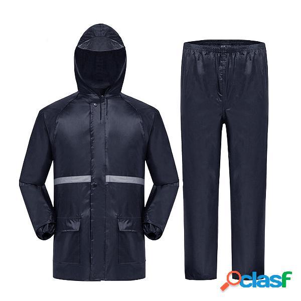 Impermeable Moto Impermeable Traje de lluvia Abrigo con