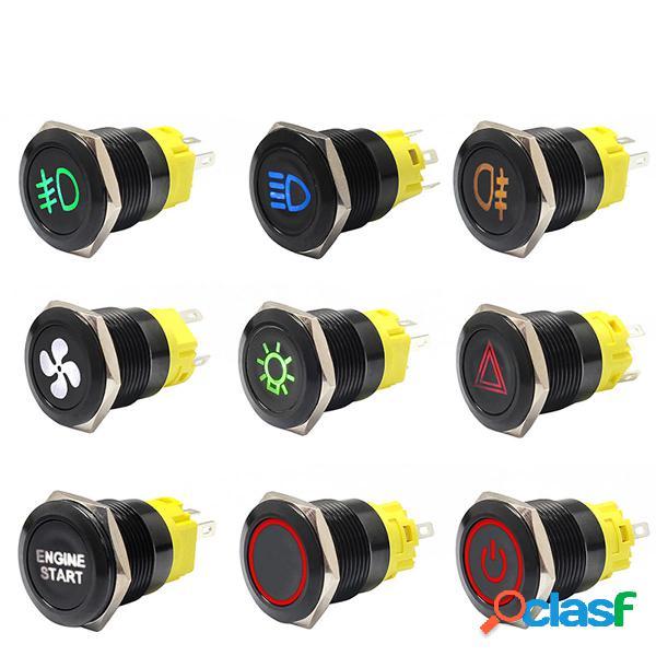 Interruptor de botón pulsador de 12 V 24 V Tablero de
