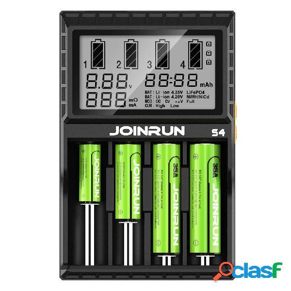 JoinRun S4 4Slots Enchufe de la UE LCD Pantalla Enchufe de