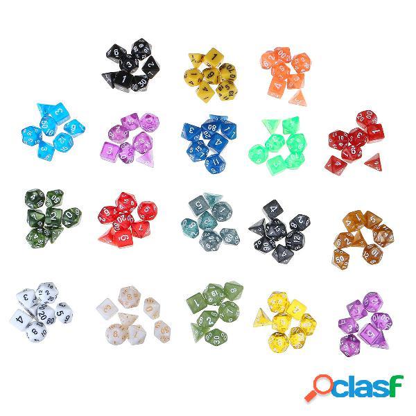 Juego de dados poliédricos de 126 piezas para dados de