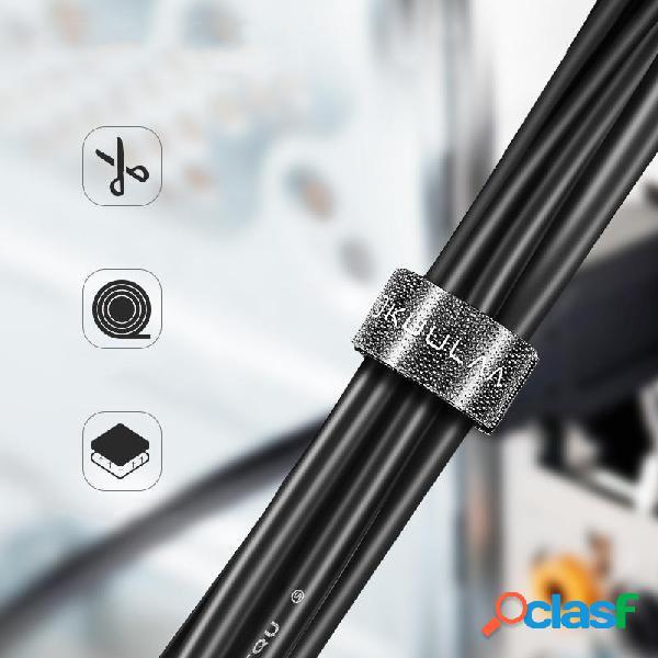 KUULAA 1m 3m 5m Enrollador de gestión de cables cortable