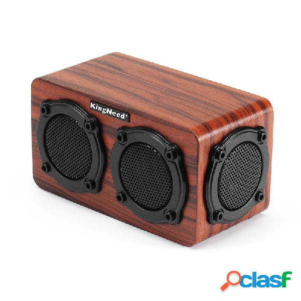 Kingneed S403 HiFi inalámbrico de madera Bluetooth Altavoz
