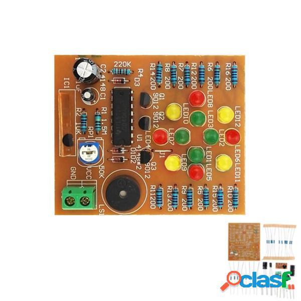 Kit de Luz LED de Música DIY CD4060 Entrenamiento