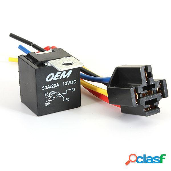 Kit de Reléf de Auto Coche Universal Fijado Negro 5 Pin