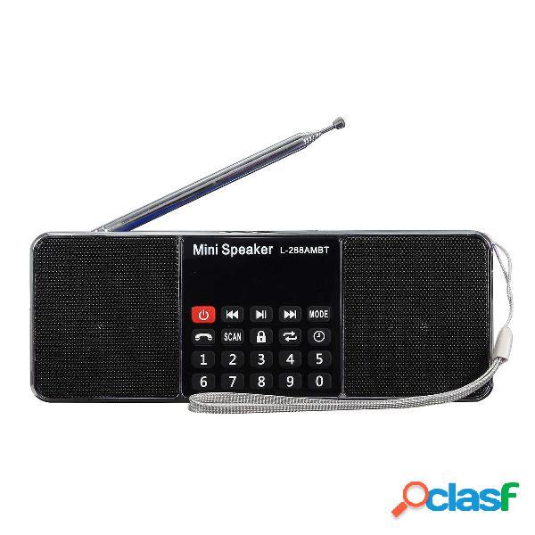 L-288 AMBT Bluetooth portátil LCD FM / AM Radio Altavoz