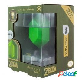 Lampara The Legend of Zelda Green Rupee 3D Light