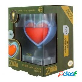 Lampara The Legend of Zelda Heart Container 3D Light