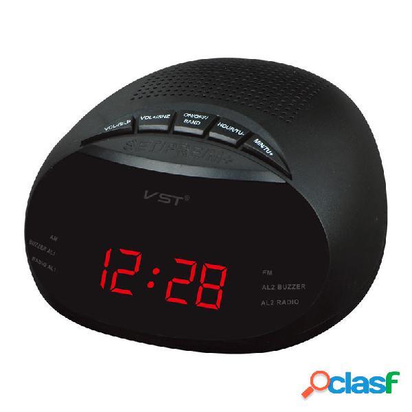 Led Digital Radio alarma Reloj con BlEU ue rojo verde luz de