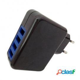 Leotec LECTAB4USB Cargador Smartphone y Tablet Cuádruple 5V