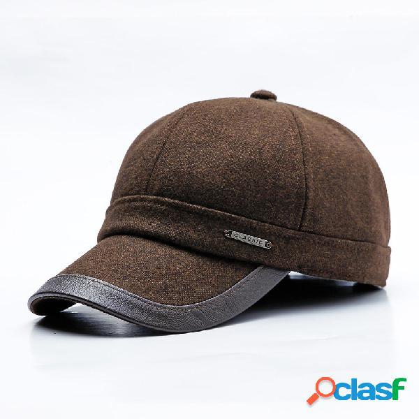Los hombres al aire libre Casual orejeras cálida gorra de