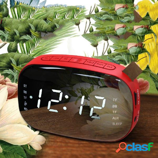 LoskiiLEDFMRadioAlarmadigital Reloj con temporizador Sleep
