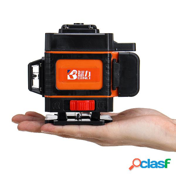Mando a distancia 12 líneas 3D Verde Láser Nivel digital