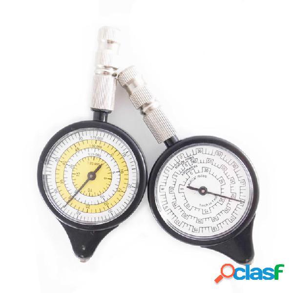 Mapa al aire libre medición del medidor indicador de