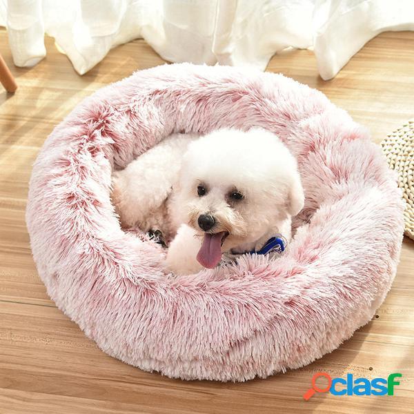 Mascota Perro Gato Cama calmante Nido redondo Cálido Soft