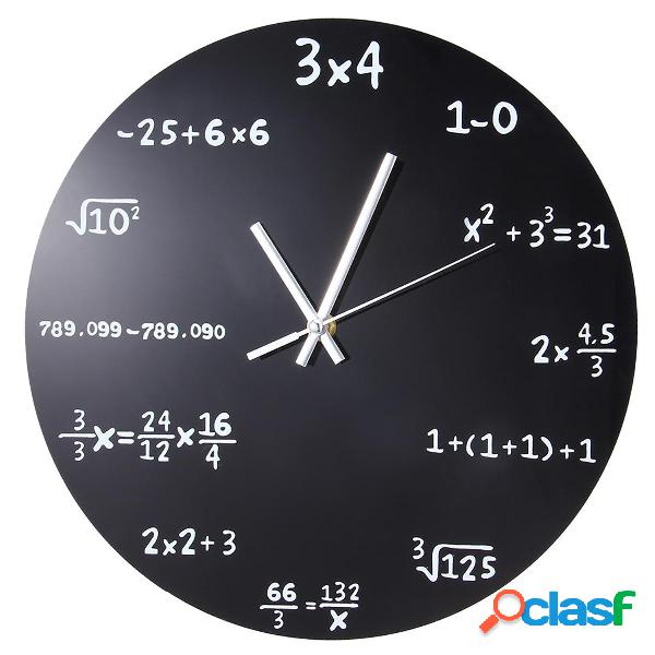 Mathematics Blackboard Reloj Wall Reloj Hogar / Oficina /