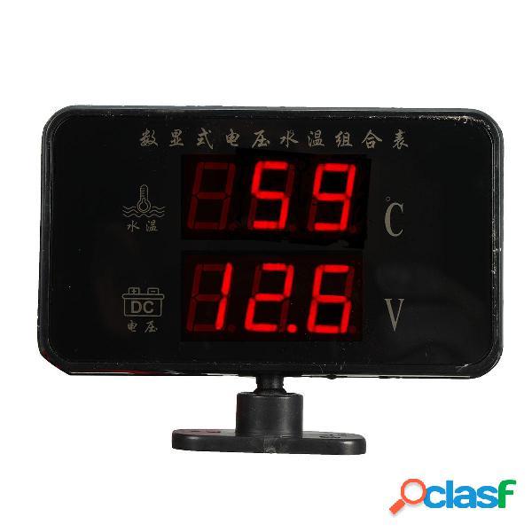 Medidor de temperatura de agua de voltaje digital 12V 24V