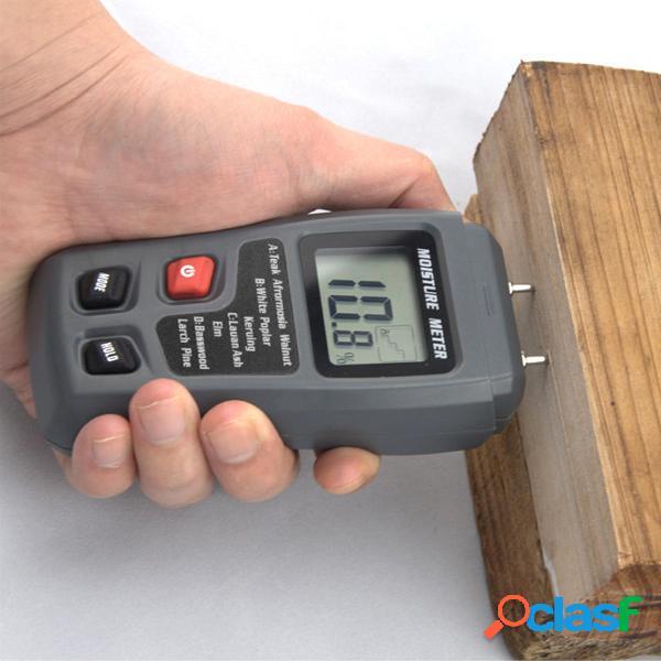 Medidor de temperatura de humedad de madera digital LCD
