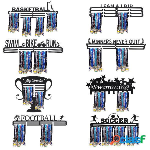 Metal Steel Medal Holder Percha Pantalla Rack Decoraciones