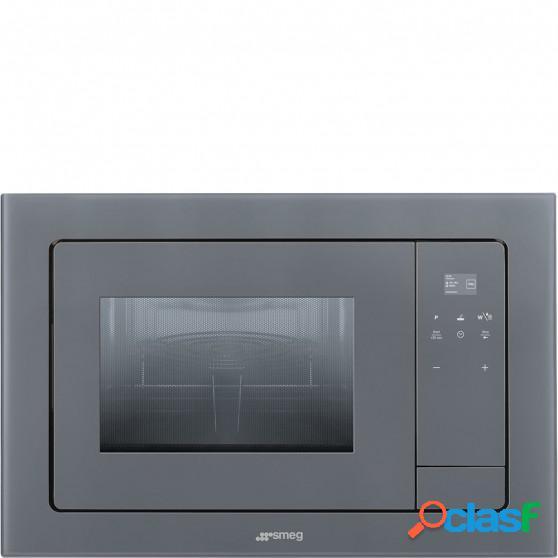 Microondas SMEG FMI120S1 Plata Grill Integ
