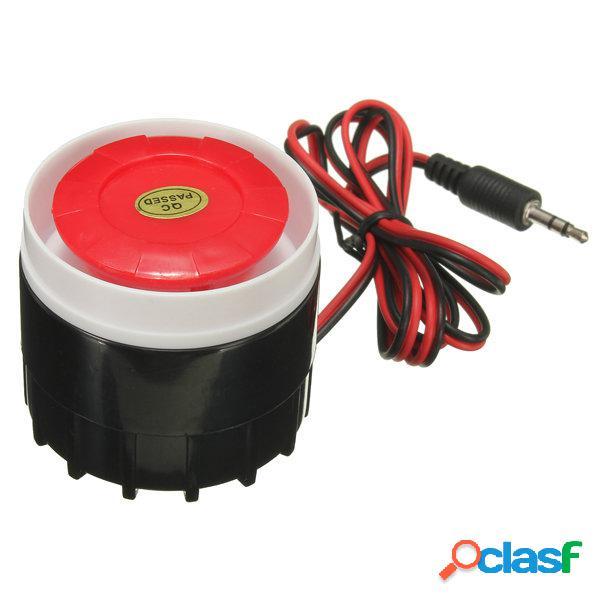 Mini sirena cableados para la alarma inalámbrica doméstica
