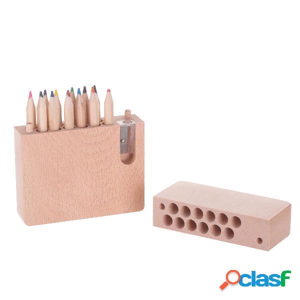 Miniso Wooden Caja 12 piezas lápices de colores con