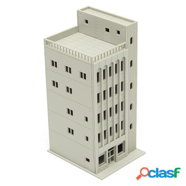 Modelos ferrocarril moderno edificio de 5 plantas a escala