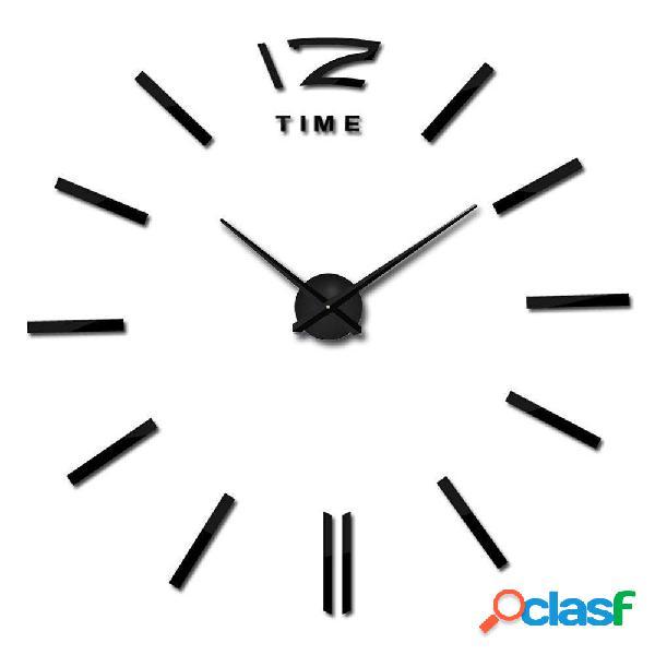 ModernDIYparedRelojgranpared 3D sin marco Reloj espejo