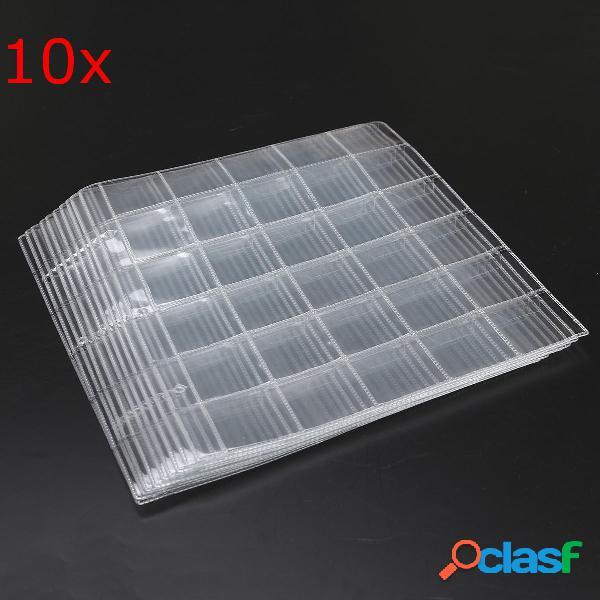 Monederos de plástico 10pcs colección de almacenamiento de