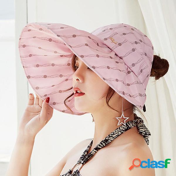 Mujer Summer al aire libre Cubo respirable anti-UV Sombrero