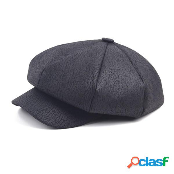 Mujer Unisex Cortical Cracked Patrón Octagonal Cap Casuales
