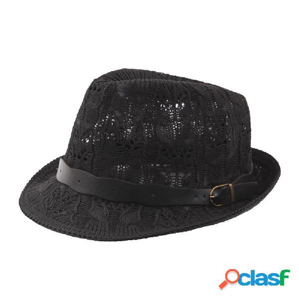 Mujer Verano al aire libre Malla Transpirable Jazz Sombrero