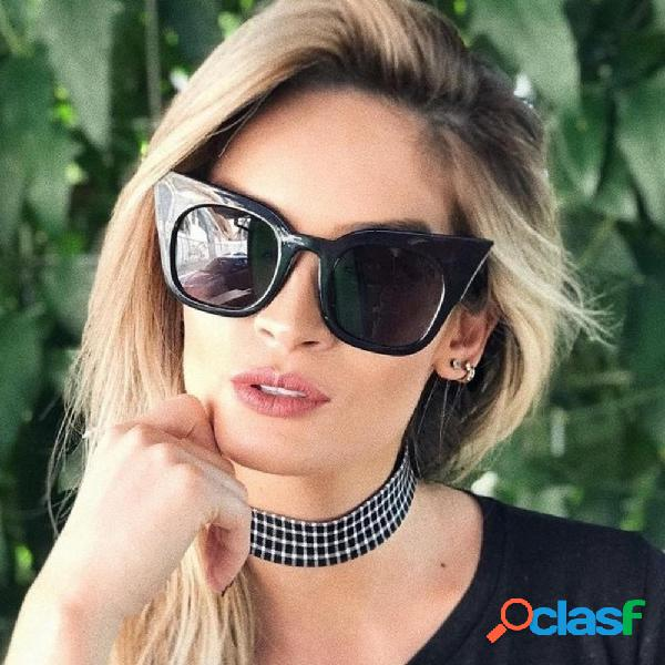 Mujeres vendimia Gato ojo UV400 gafas de sol de marco