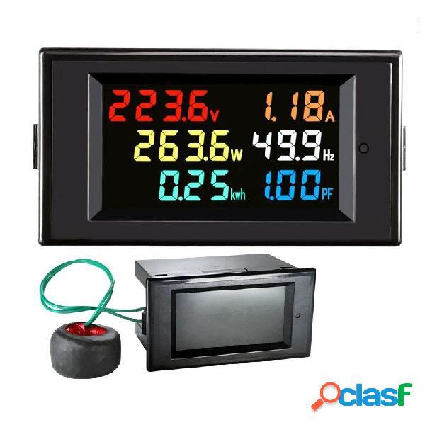 Multifunción CA 220V Potencia Monitor Pantalla a color de