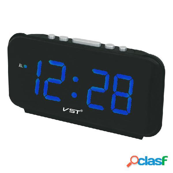 Números grandes Relojes de alarma digitales Enchufe de la