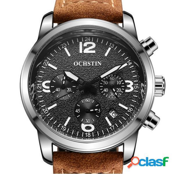 OCHSTIN 6047G Reloj de cuarzo de los hombres de la manera