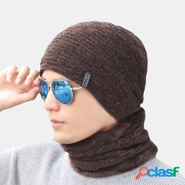 Orejeras engrosadas para hombres Gorro cálido Sombrero