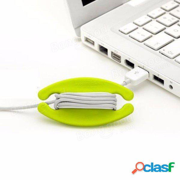 Organizador de alambre devanador cable USB cable de los