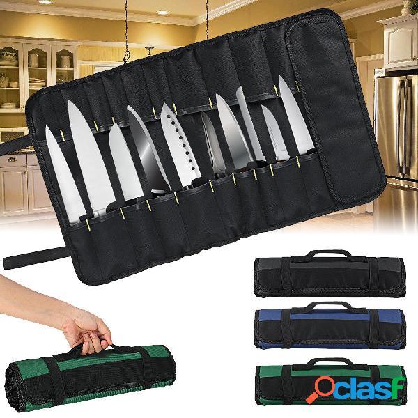 Oxford Cloth 22 Slots Pocket Chef Bolsa Roll Carry Caso