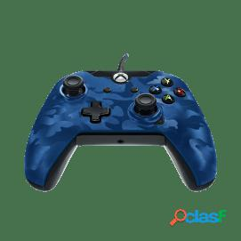 PDP Mando Deluxe Camuflaje Azul con Cable Xbox One