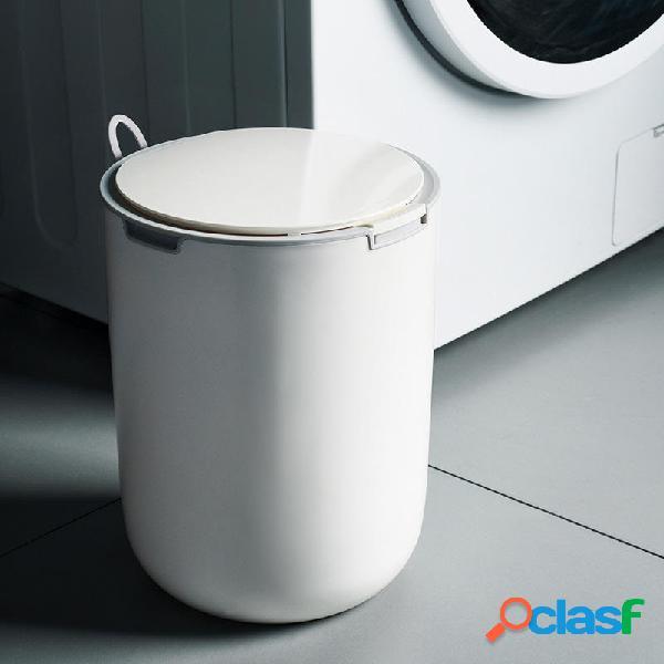Papelera redonda con cesta de papel higiénico con círculo